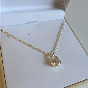 Charter Club Cubic Zirconia Pendant Necklace